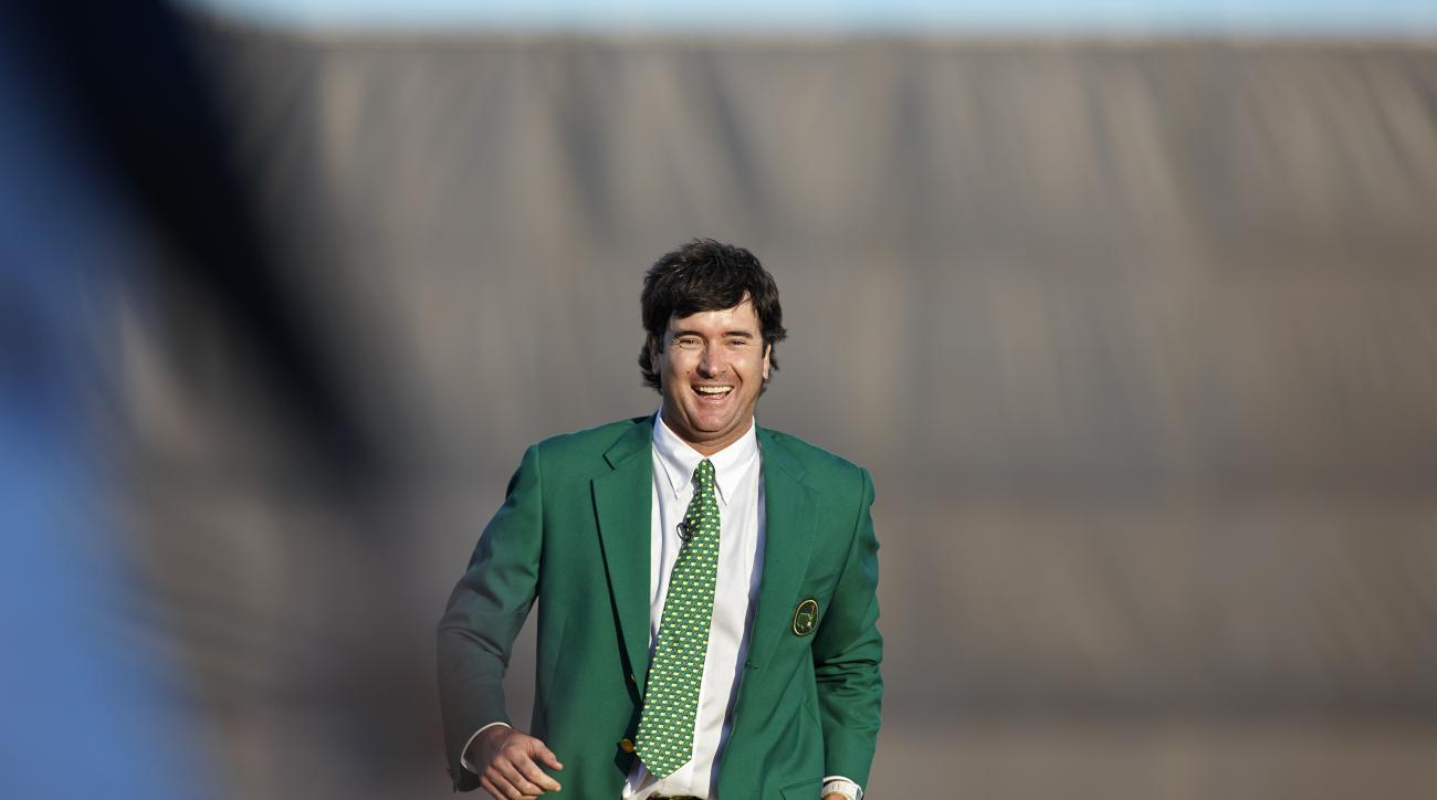 Watson slipped into his second green jacket last year after firing a Sunday 69 for a three-shot victory.