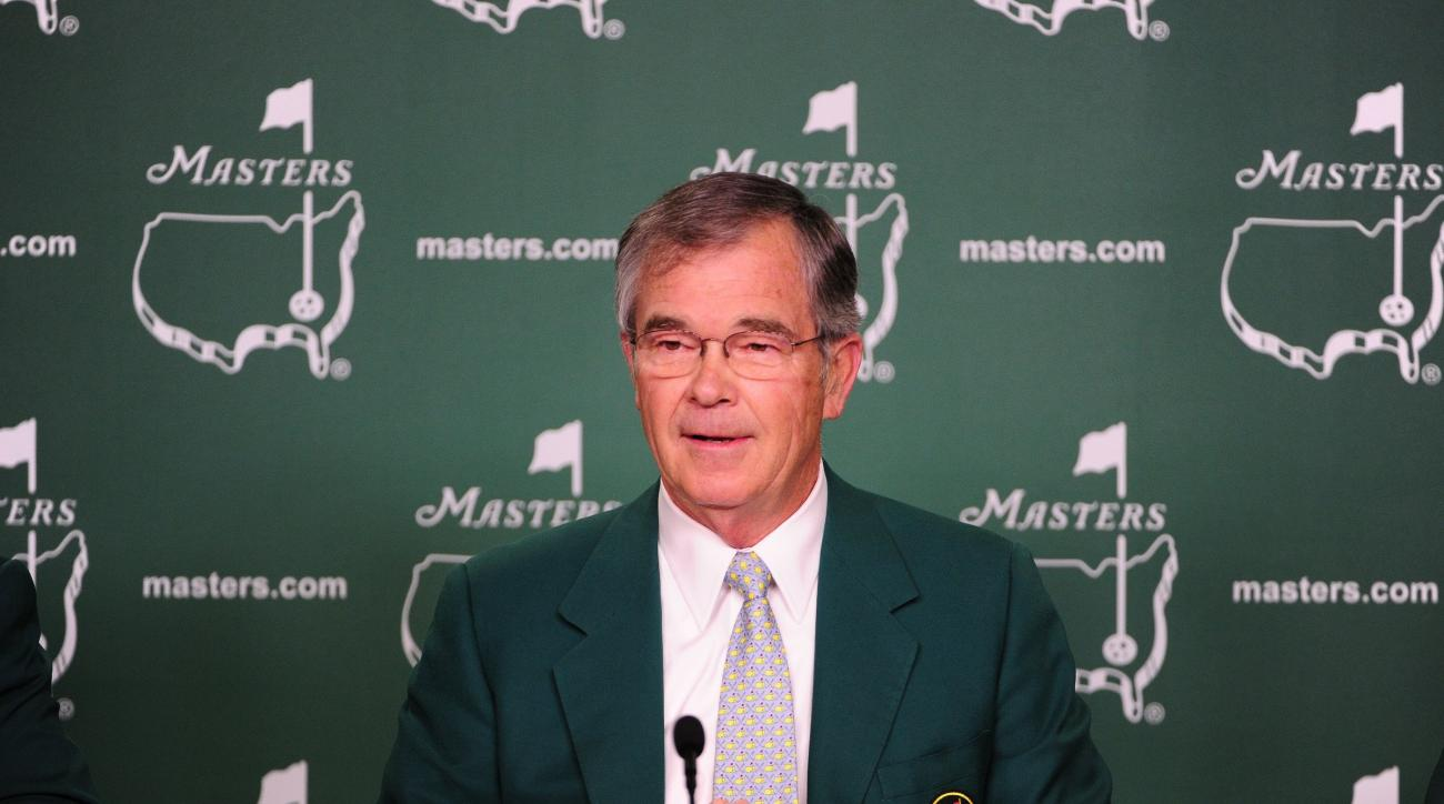 Augusta National chairman Billy Payne addressed the media prior to the start of the 2015 Masters Tournament.