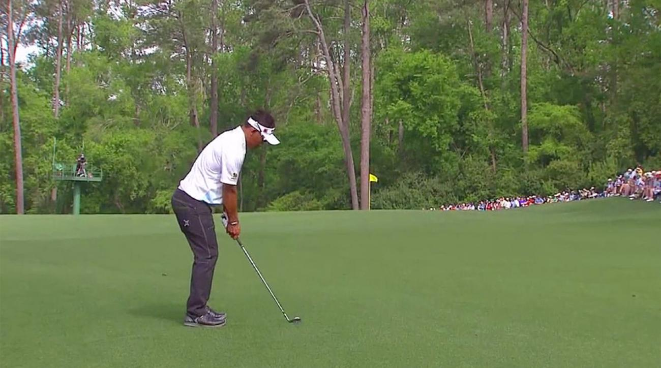 Thongchai Jaidee during the second round of the 2015 Masters.