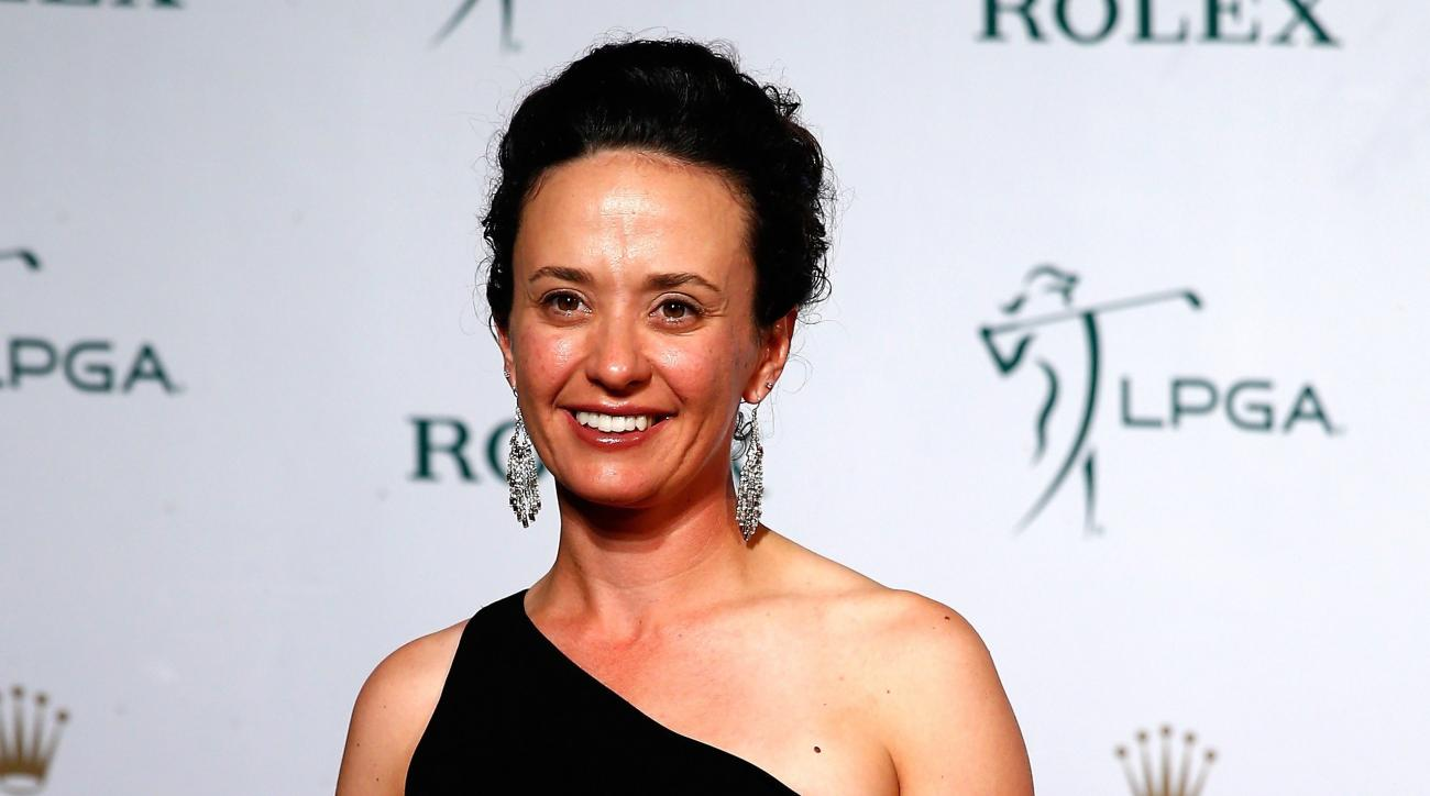 Mo Martin poses on the red carpet during the Rolex Player Awards ceremony at the Ritz Carlton on November 20, 2014 in Naples, Florida.