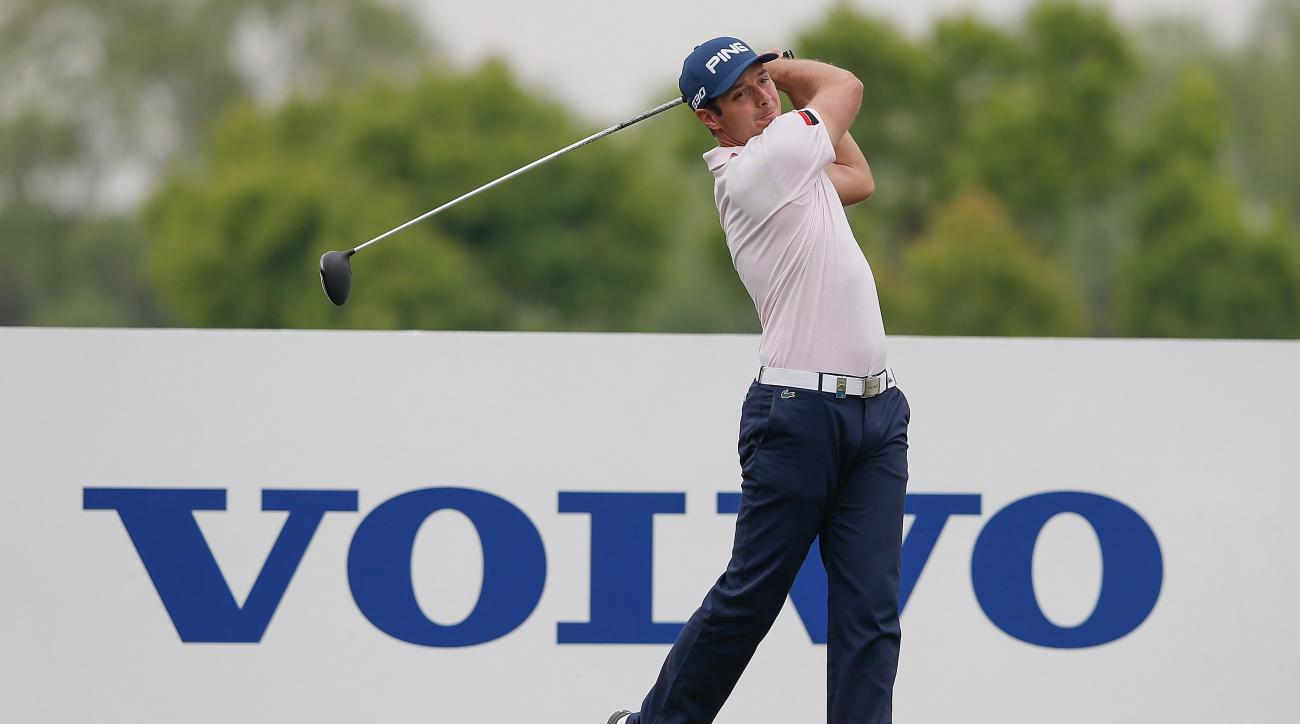 Julien Quesne plays a shot during the second round of the Volvo China Open.