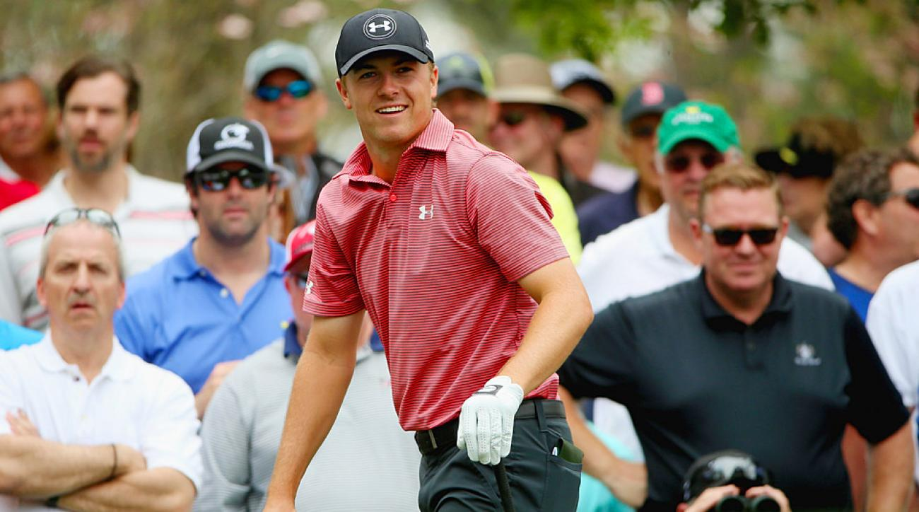 Jordan Spieth during a practice round prior to the start of the 2015 Masters.