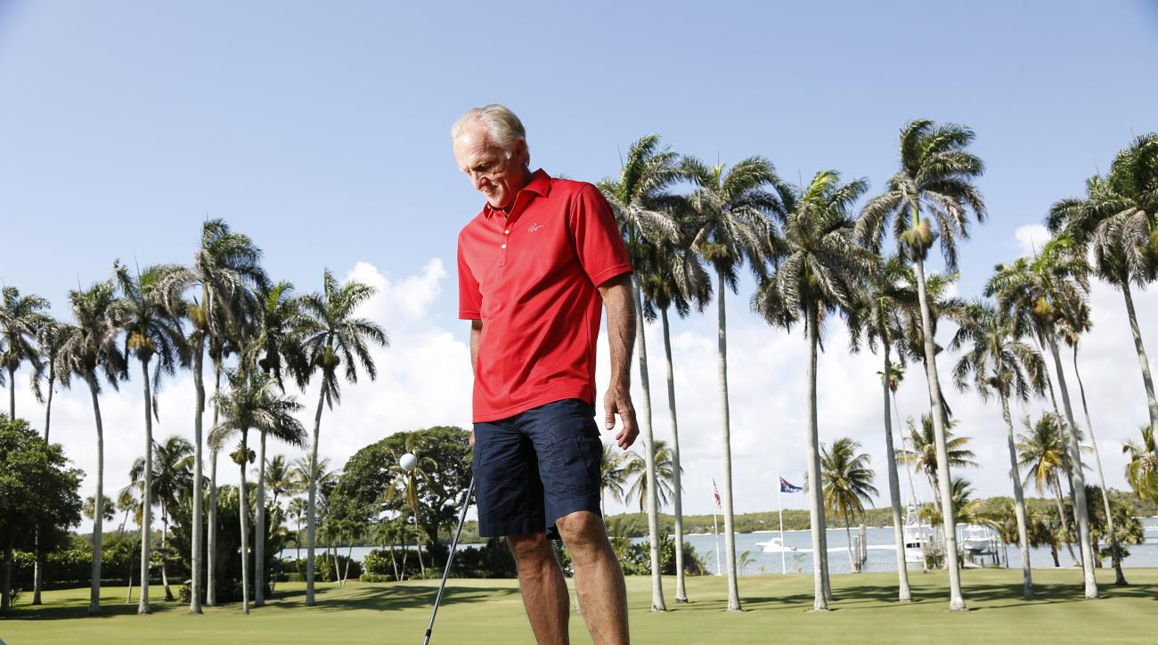 Greg Norman photographed at his home in Jupiter, Florida.