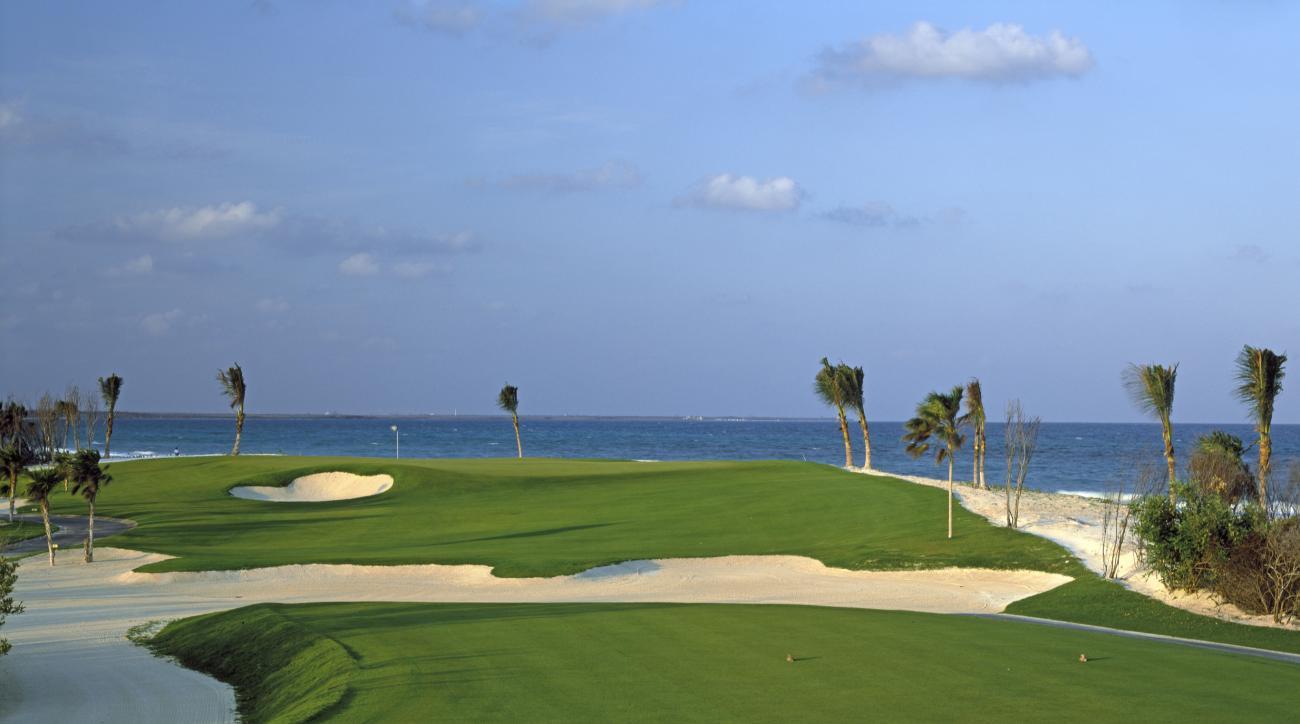 No. 15 on the El Camaleon Course at Fairmont Mayakoba Resort in Quintana Roo, Mexico.