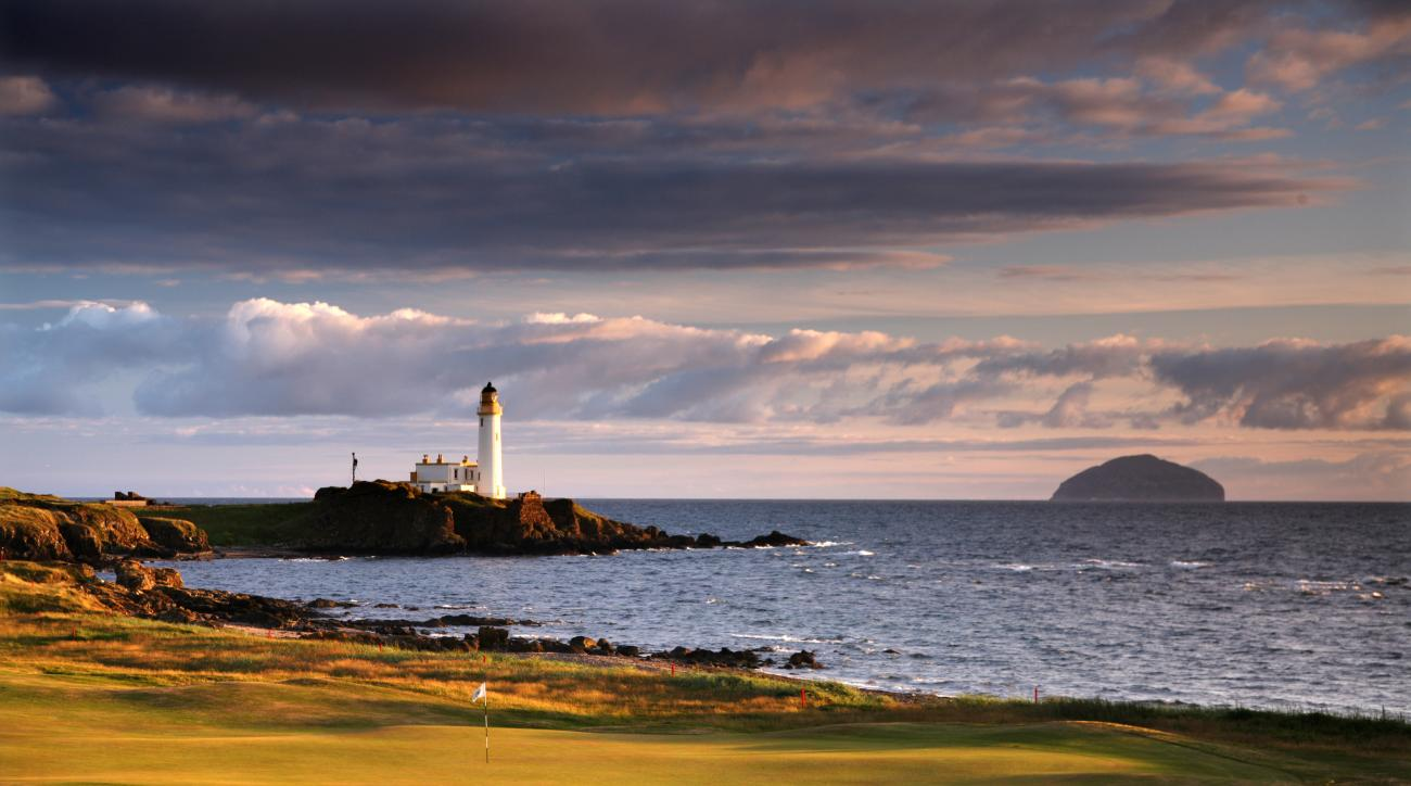 The par 4, 10th hole on the Ailsa Course at Turnberry in Scotland.