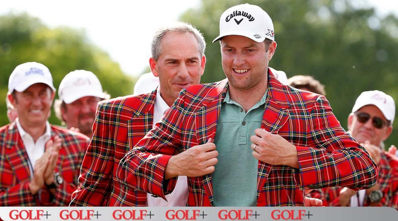Chris Kirk was fitted for the plaid blazer that goes to every Colonial champion.