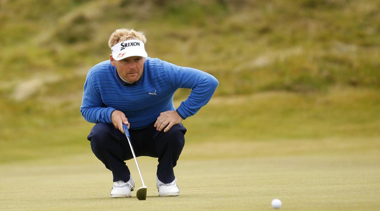 Denmark's Soren Kjeldsen lines up a putt Saturday at the Irish Open.