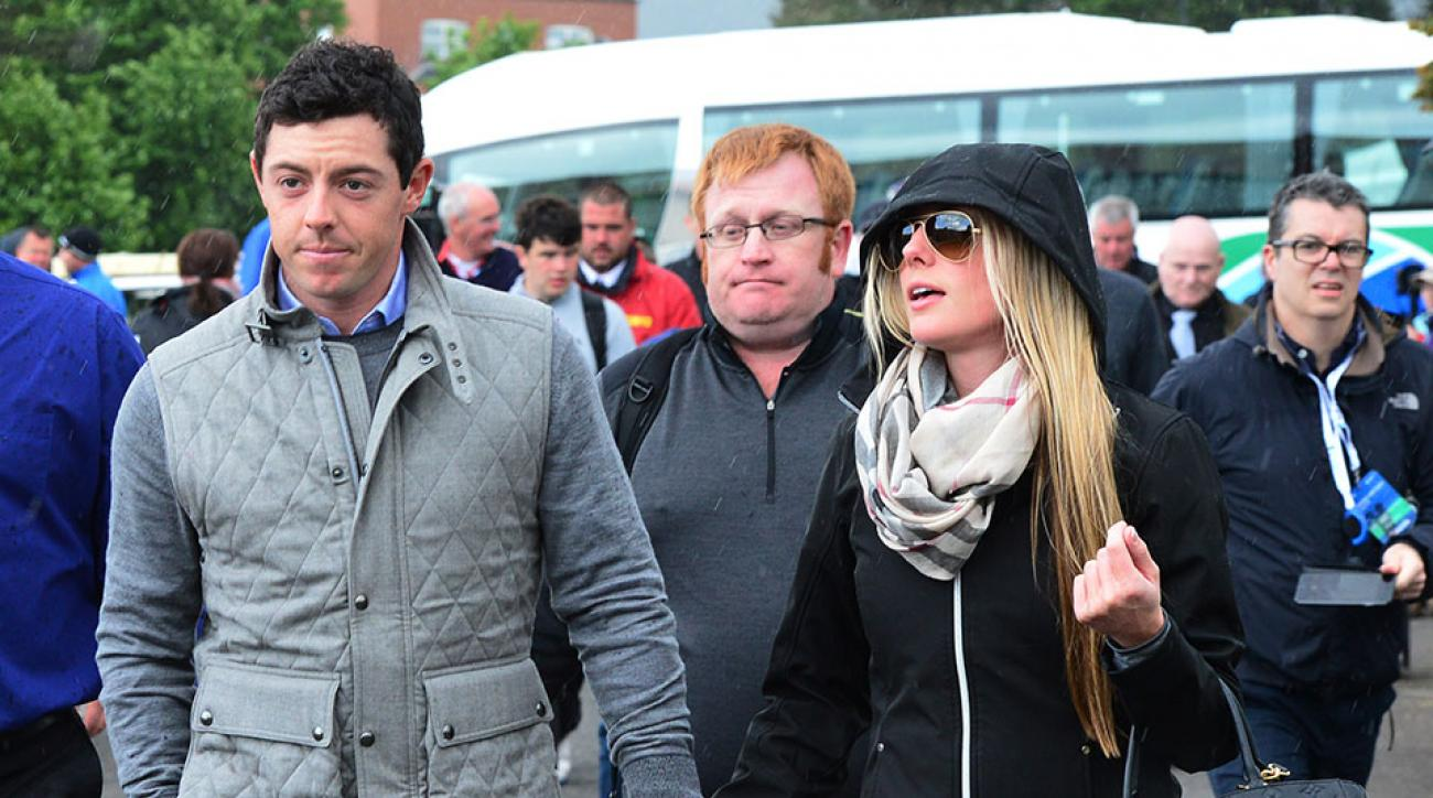 Rory McIlroy and Erica Stoll appeared together during the final round of the Irish Open.
