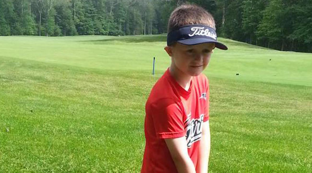 Ryan McGuire, 6, raised $40,000 by playing 100 holes of golf to honor a friend who died from cancer.