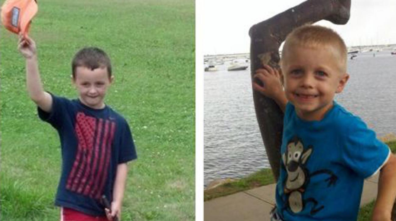 Ryan McGuire (left) will play 100 holes of golf in one day in the memory of his friend, Danny Nickerson (right), who died from a rare pediatric cancer called DIPG, and also to raise money.