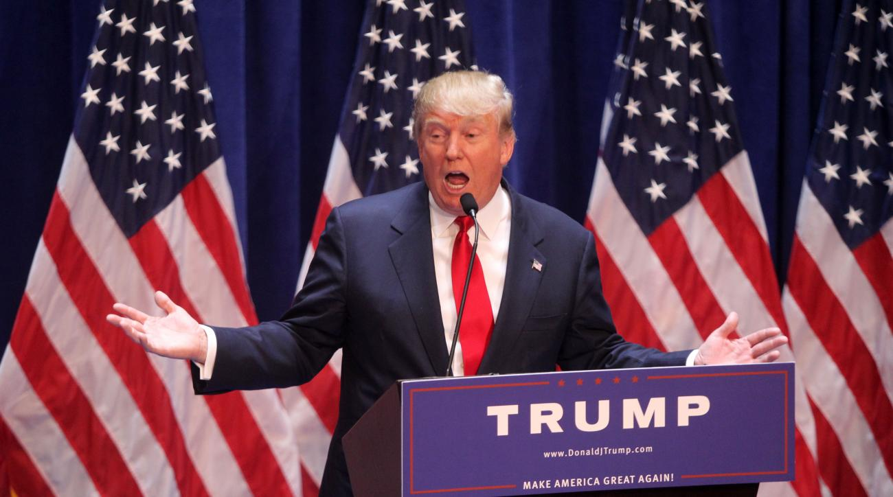 Donald Trump during his presidential announcement at Trump Tower on June 16, 2015 in New York City.