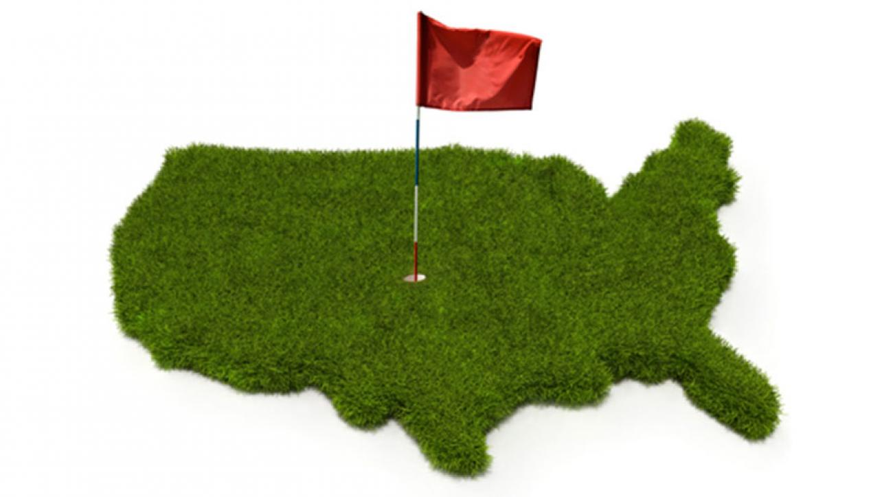 The United States Of Golf All  States Ranked By Their Golfiness - Map of usa golf courses