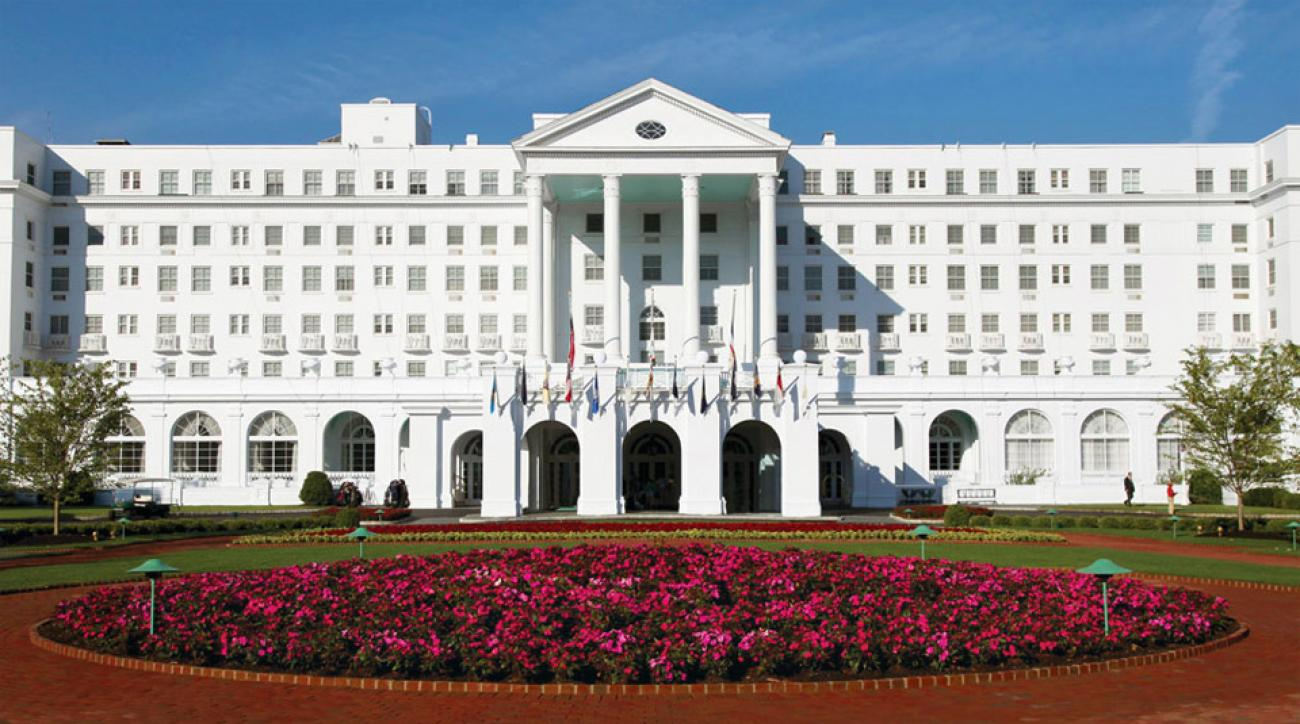 The front entrance at the greenbrier