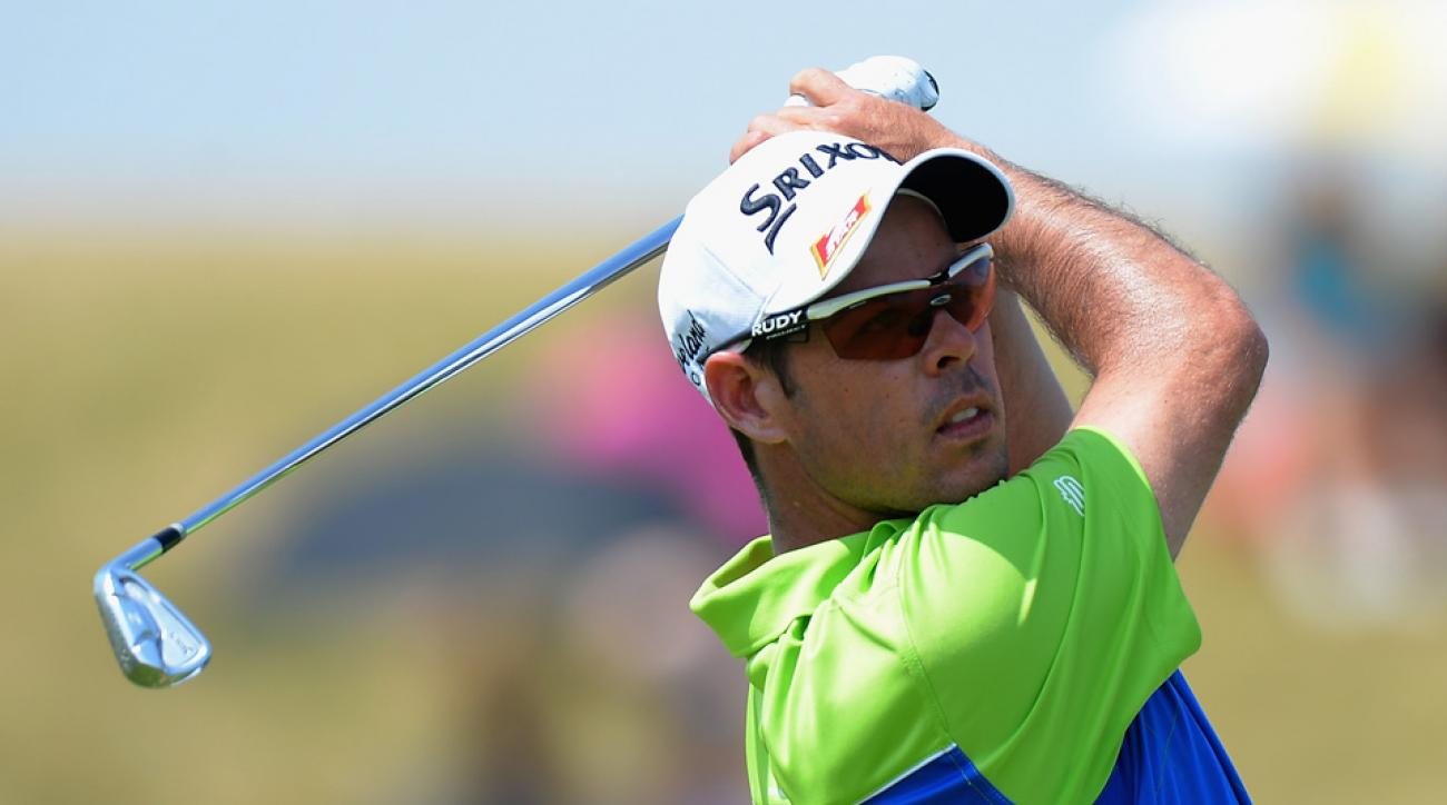 Jaco Van Zyl of South Africa plays his first shot on the 2nd tee during the third round of the Alstom Open de France at Le Golf National on July 4, 2015, in Paris, France.