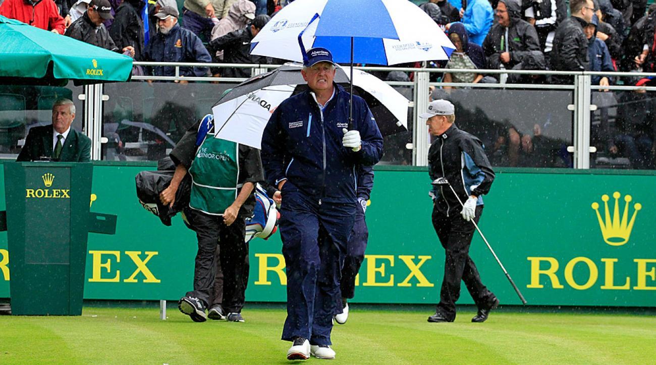 Colin Montgomerie Friday at the Senior British Open.
