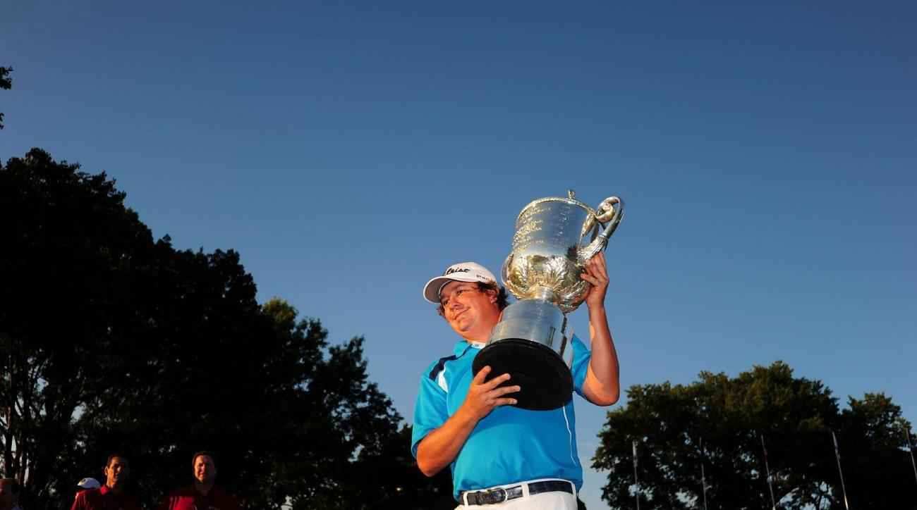 """The PGA attracts """"rookie"""" major winners, like Jason Dufner in 2013."""