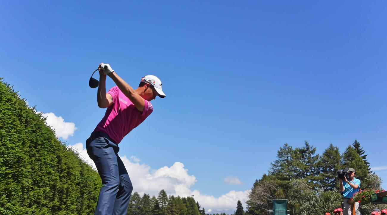 Danny Willett plays a shot during the third round of the European Masters.