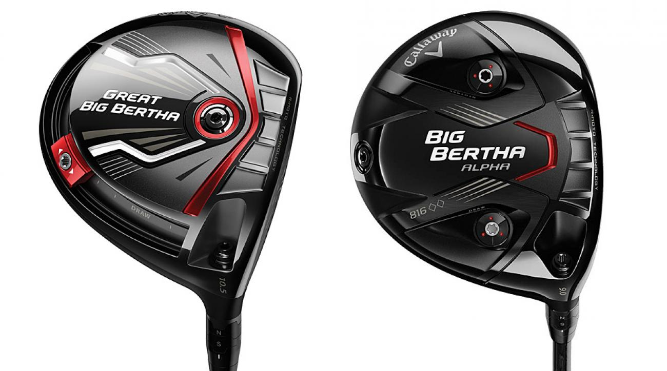 Left: Callaway Great Big Bertha Driver; Right: Callaway Big Bertha Alpha 816 Double Black Diamond Driver