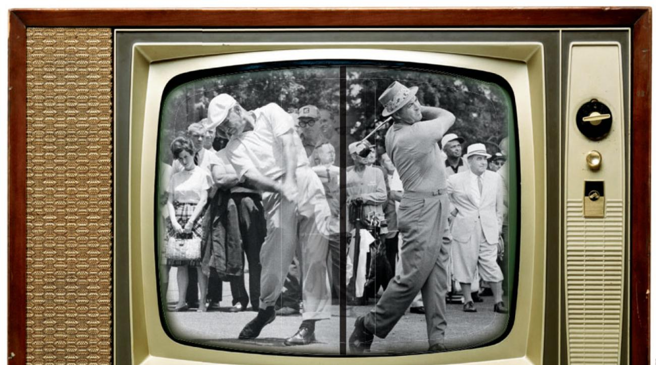Hogan and Snead, both 51, tee off in their historic final face-off, at Houston Country Club.