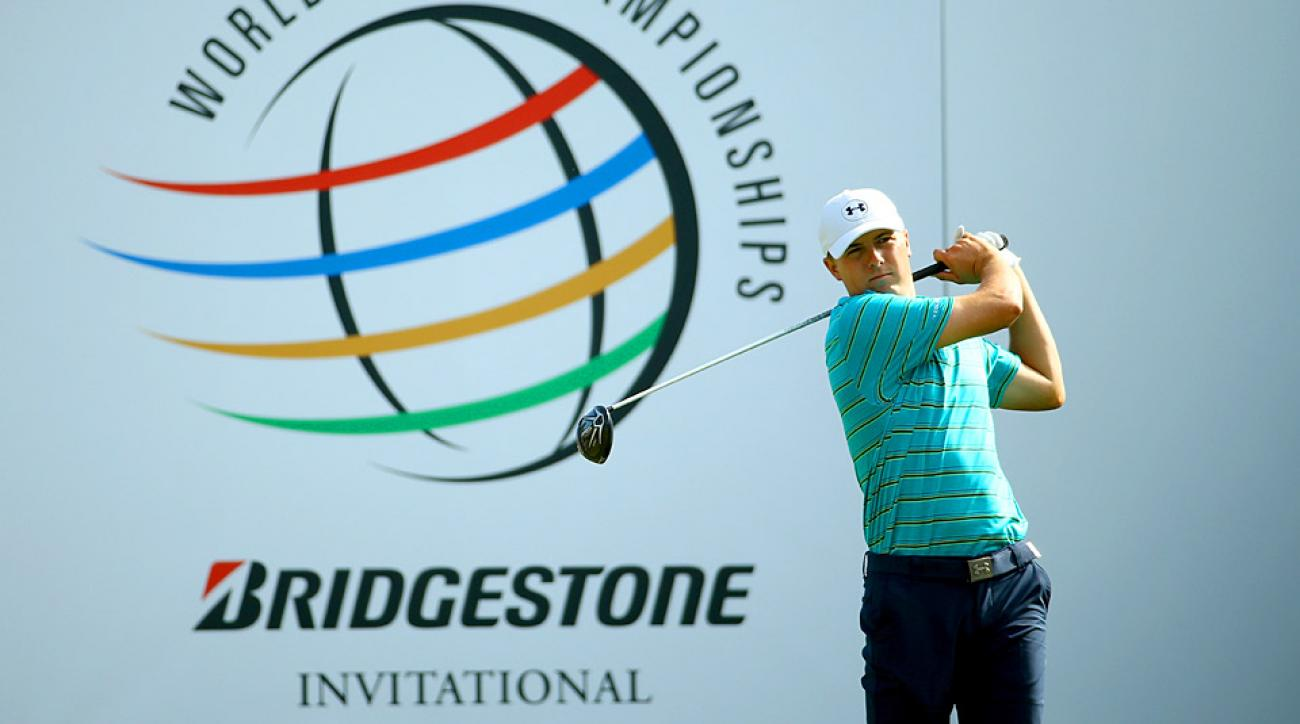 Jordan Spieth during round 1 at Firestone Country Club.