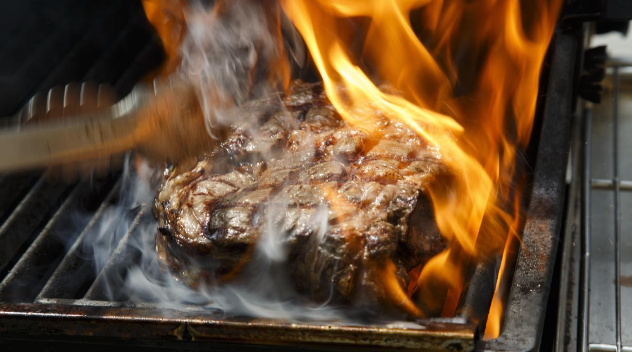 It's hard to beat a hearty steak after a long day on the course.