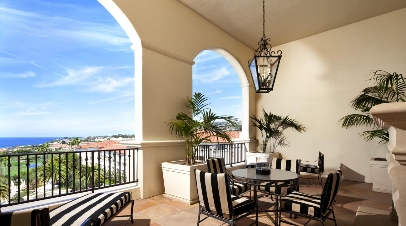 The balcony of the Presidential Suite serves up gorgeous Pacific Ocean views.