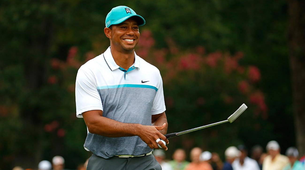 Tiger Woods during the first round of the 2015 Wyndham Championship.