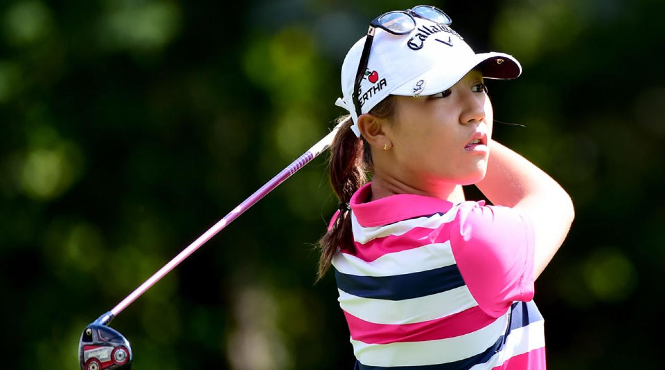 Lydia Ko plays her second shot on the sixth hole during the second round of the Canadian Pacific Women's Open.