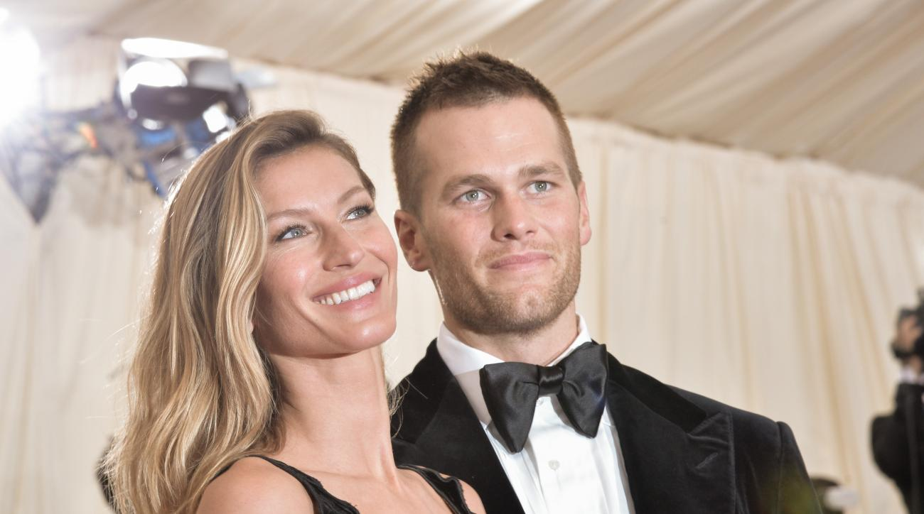 New England Patriots quarterback Tom Brady and his wife Gisele Bundchen.