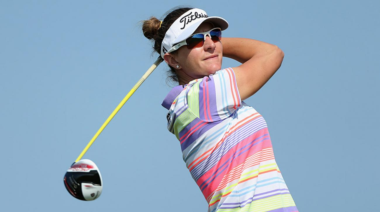 Brittany Lang during the first round on Thursday.