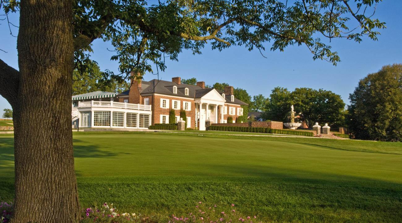 The clubhouse at Trump National Golf Club in Bedminster, N.J.