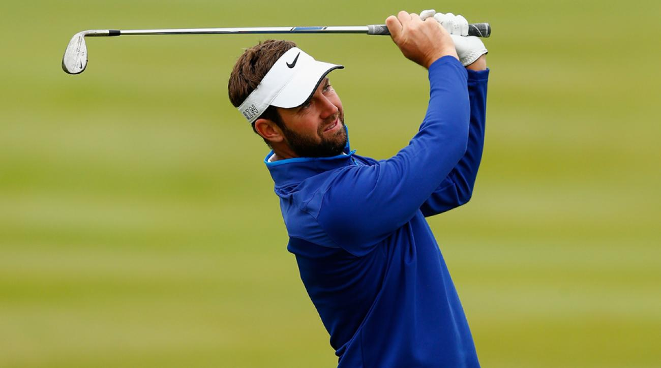 Scott Jamieson of Scotland plays his second shot on the 13th hole during the first round of the M2M Russian Open at Skolkovo Golf Club on Sept. 3, 2015, in Moscow, Russia.