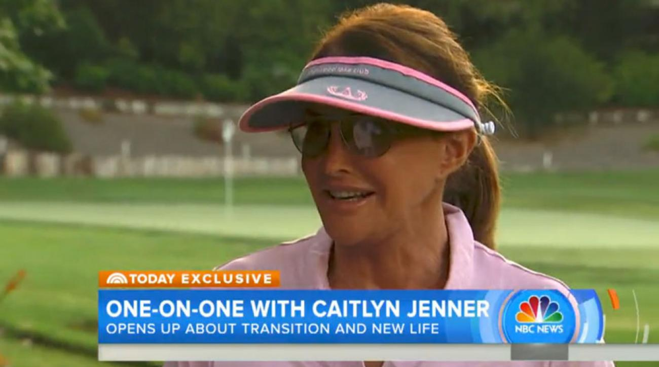 Caitlyn Jenner played a round of golf with Matt Lauer for the Today Show and discussed her transition and how it has affected her life.