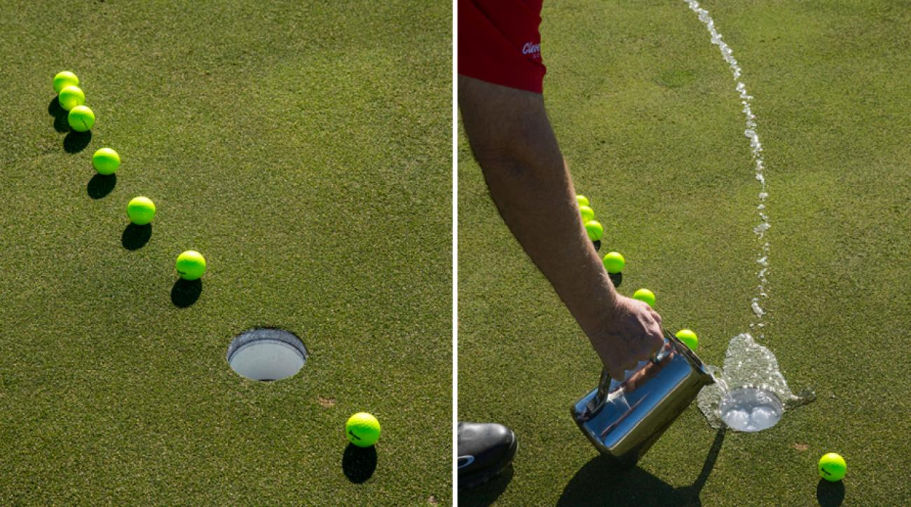 When you miss a putt, pay attention to how your ball rolls past the cup so you'll know exactly how it's going to break on the way back.