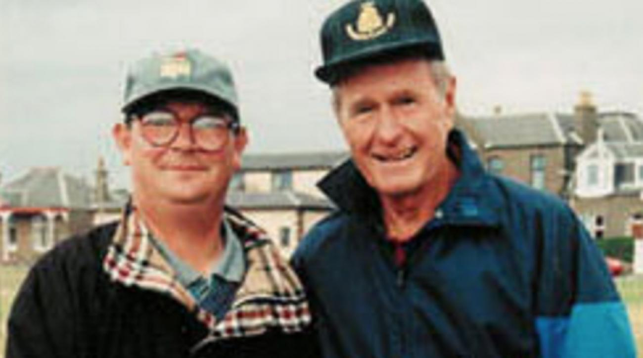 Martin Roy (left) caddied for several high-profile figures, including George H.W. Bush.