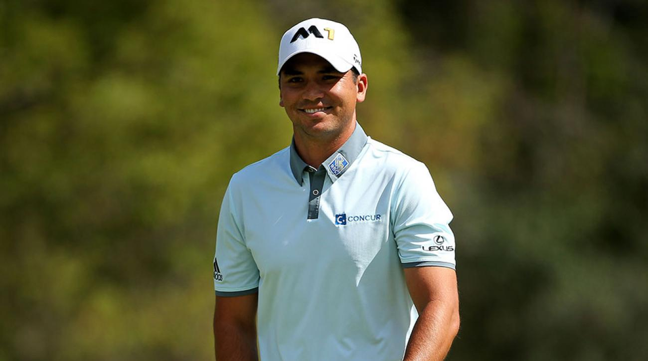 Jason Day of Australia reacts after putting on the sixth green during the Third Round of the BMW Championship at Conway Farms Golf Club on September 19, 2015 in Lake Forest, Illinois.