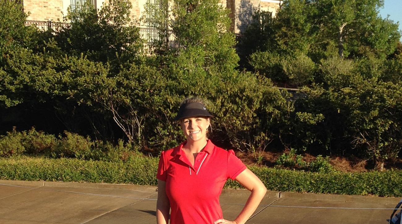 Author Jessica Marksbury during practice day 2 at the 2015 U.S. Women's Mid-Amateur.
