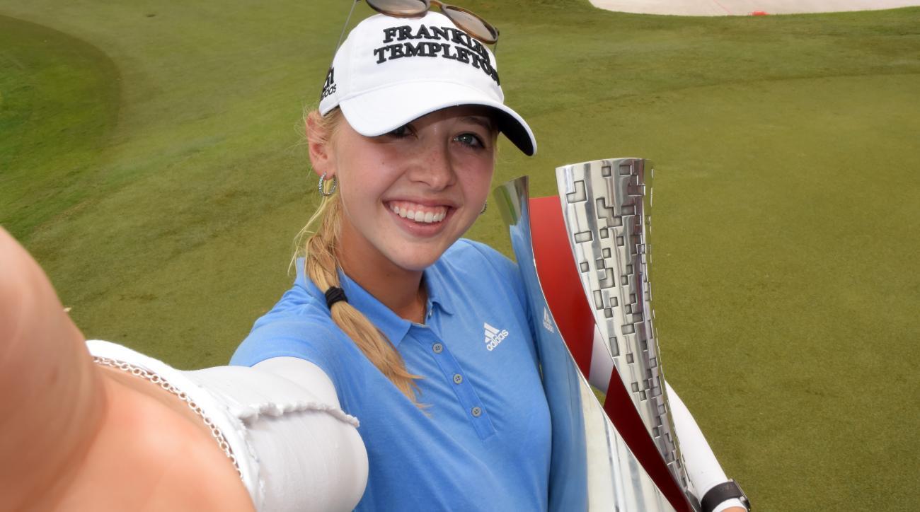 Jessica Korda shot a final-round 65 to win the LPGA Malaysia at Kuala Lumpur Golf & Country Club on Oct. 11, 2015, in Kuala Lumpur, Malaysia.