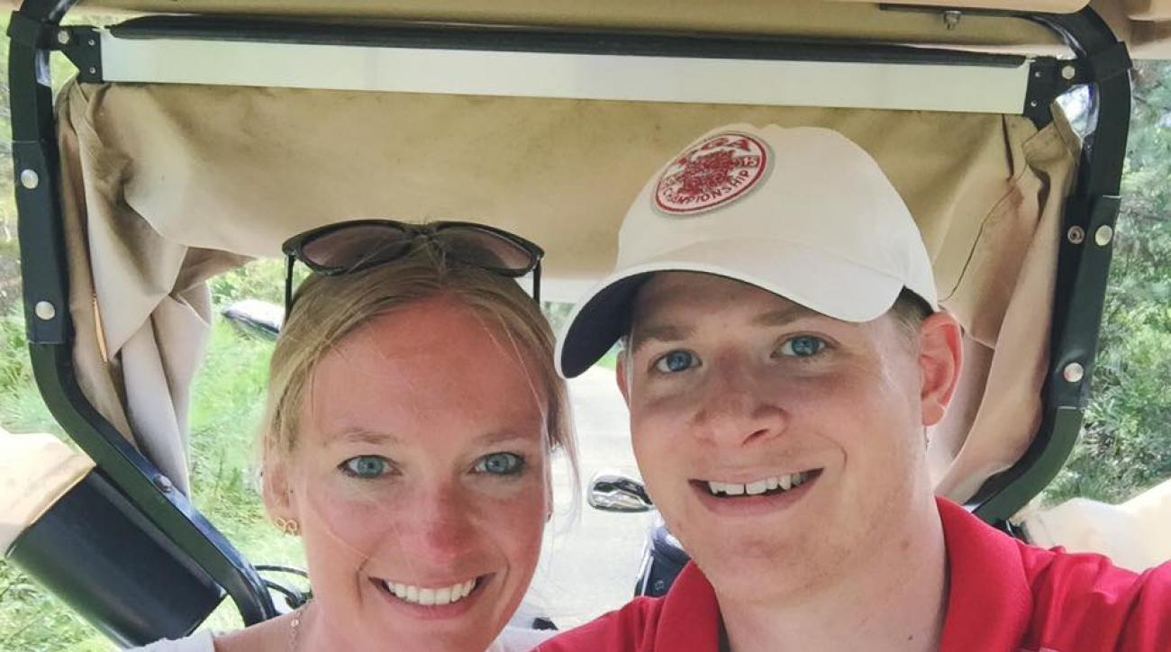 The author and his bride-to-be enjoyed their first round together.