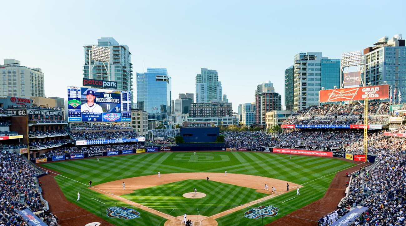 A general view of Petco Park during the game between the San Diego Padres and the San Francisco Giants.