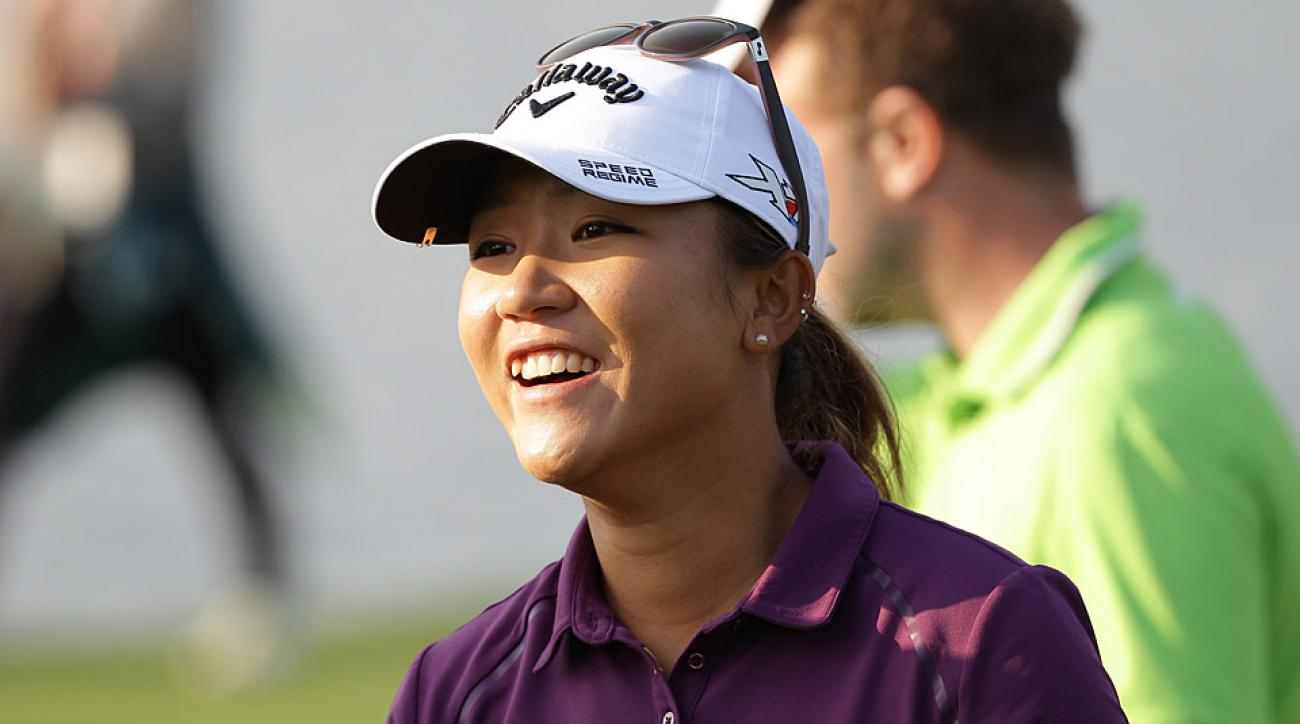 Lydia Ko during the first round of the LPGA KEB HanaBank Championship.