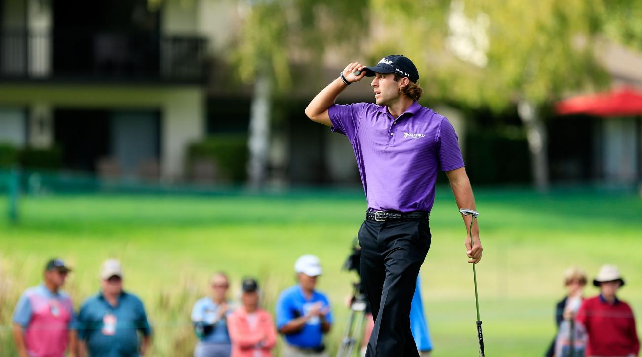 Andrew Loupe during the third round of the Frys.com Open on October 17, 2015 at the North Course of the Silverado Resort and Spa in Napa, California.