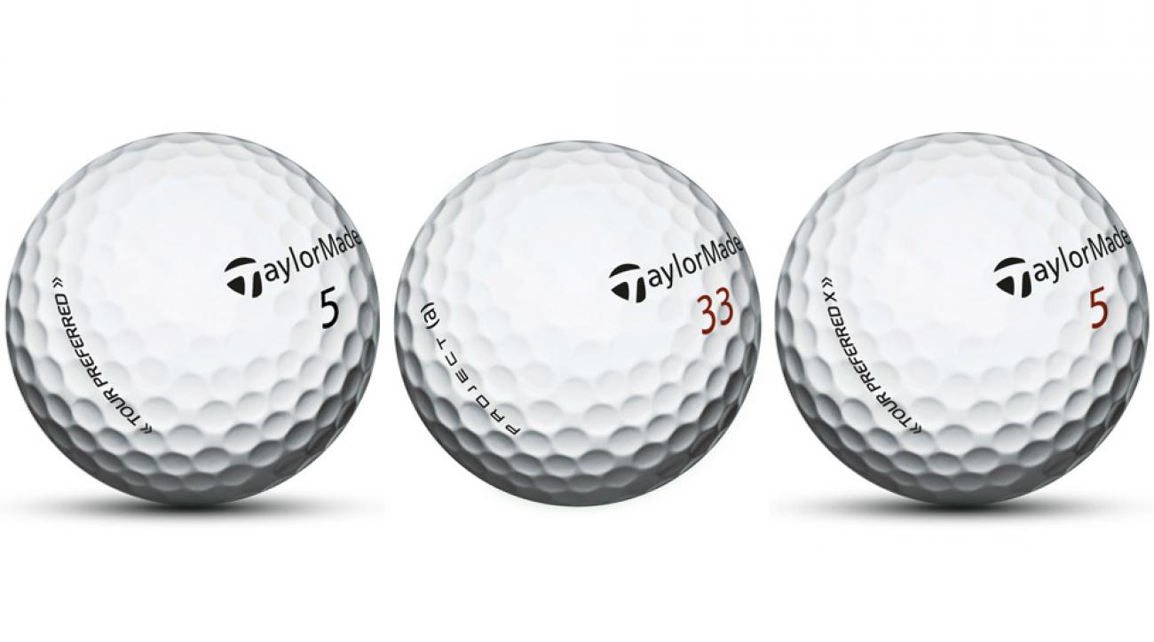 TaylorMade Tour Preferred Golf Ball; TaylorMade Project (a) Golf Ball; TaylorMade Tour Preferred X Golf Ball