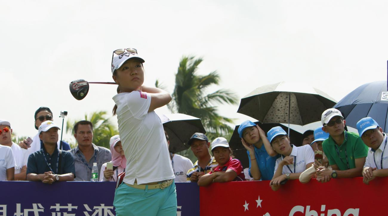 Lydia Ko tees off on the 10th hole during the opening round of the Blue Bay LPGA in China