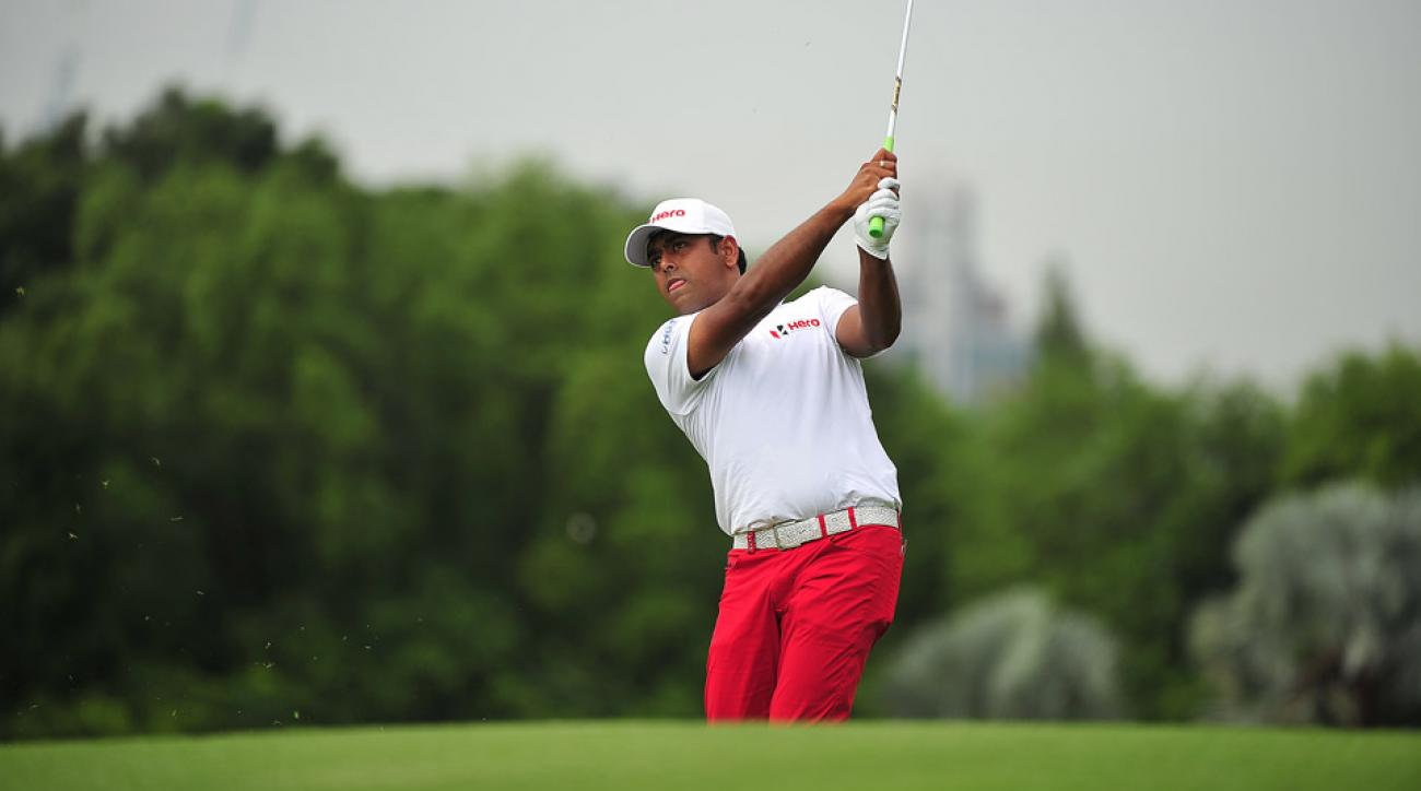 Anirban Lahiri during the 2015 CIMB Classic in Malaysia.