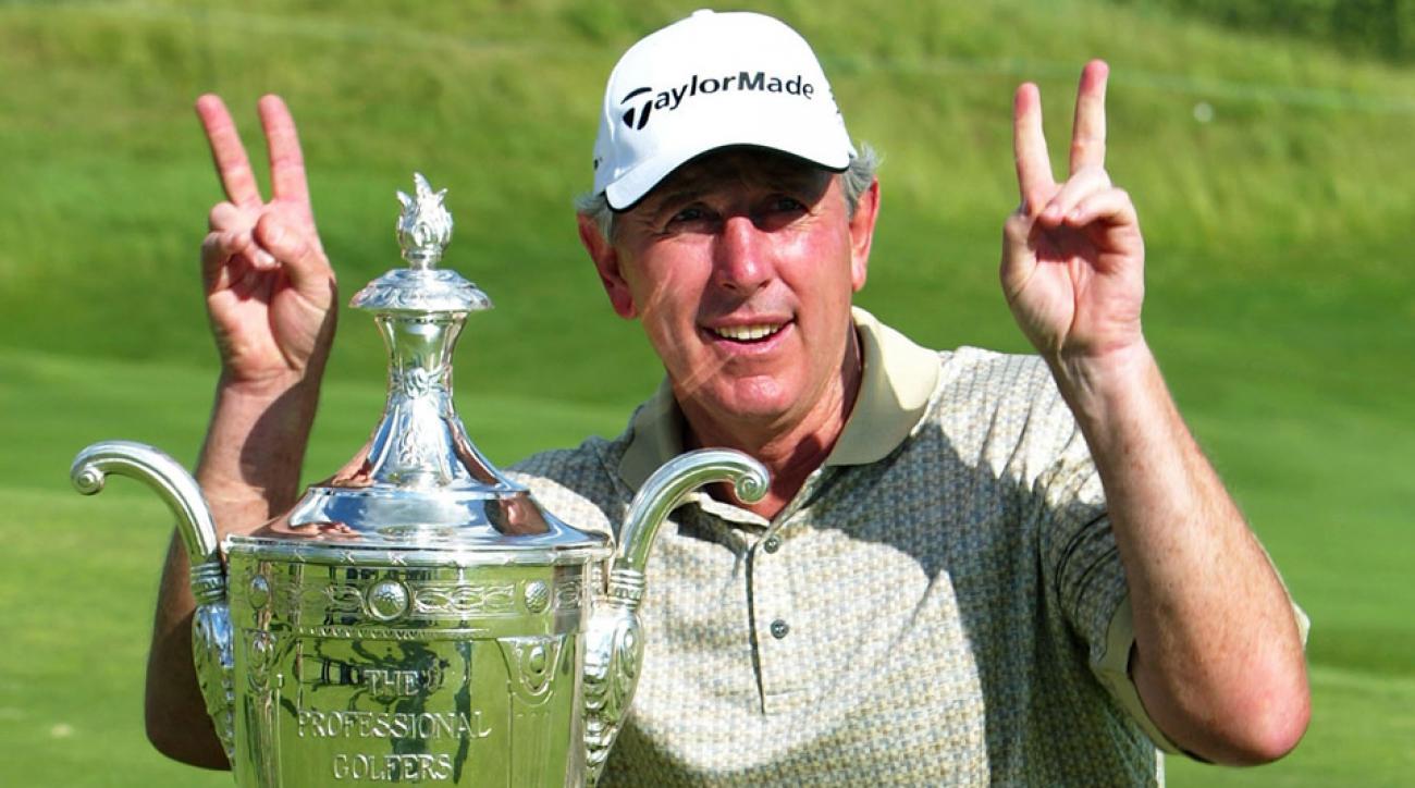Hale Irwin after winning the 2004 Senior PGA Championship