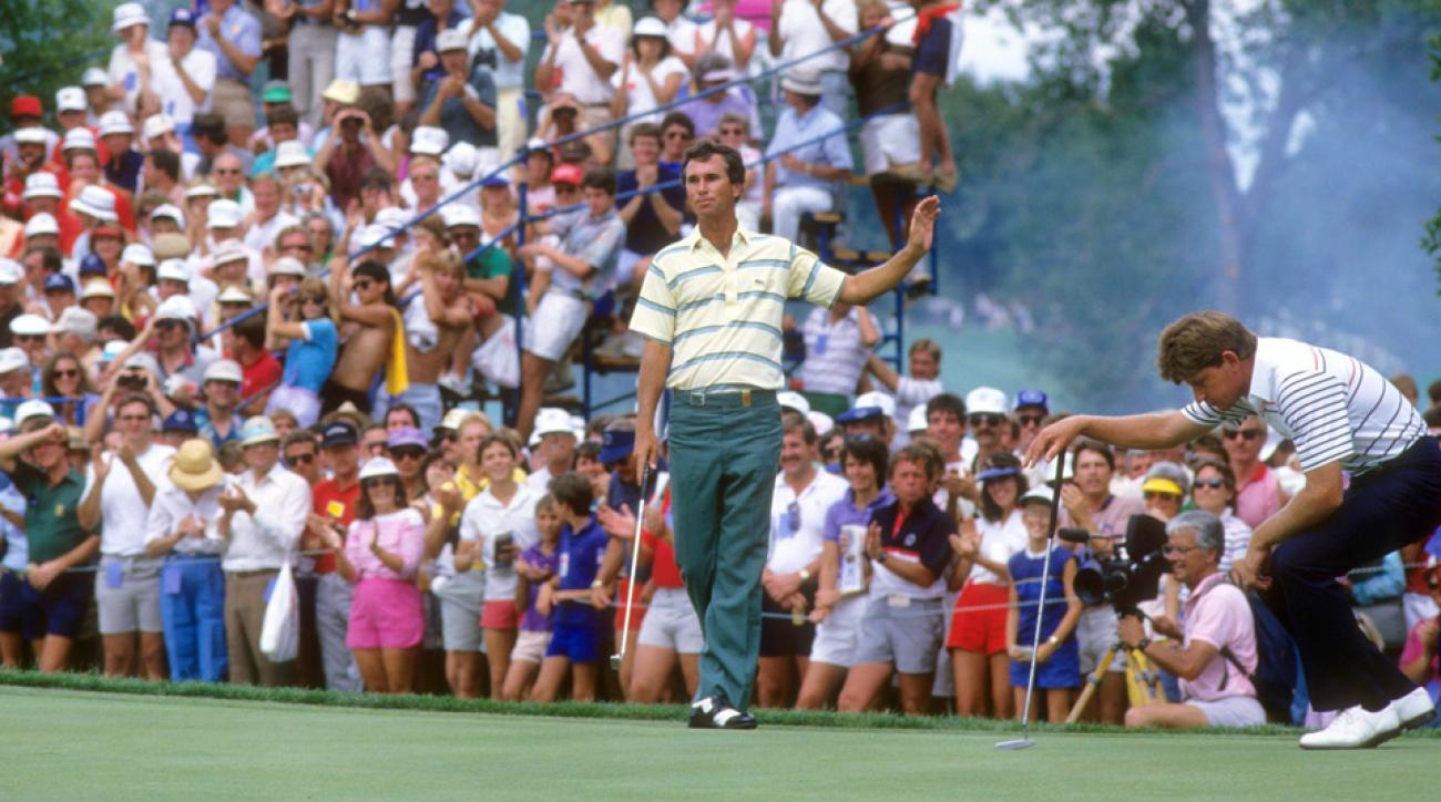 Hubert Green during the 1985 PGA Championship.