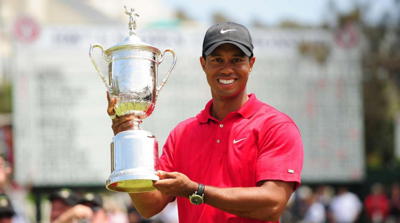 Tiger Woods after winning the 2008 U.S. Open.