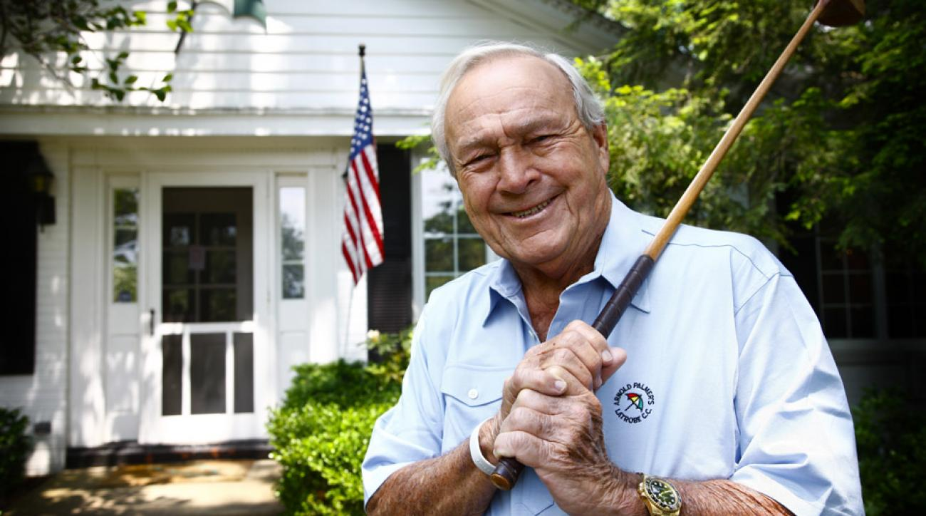 Arnold Palmer at his home in Latrobe, Penn.