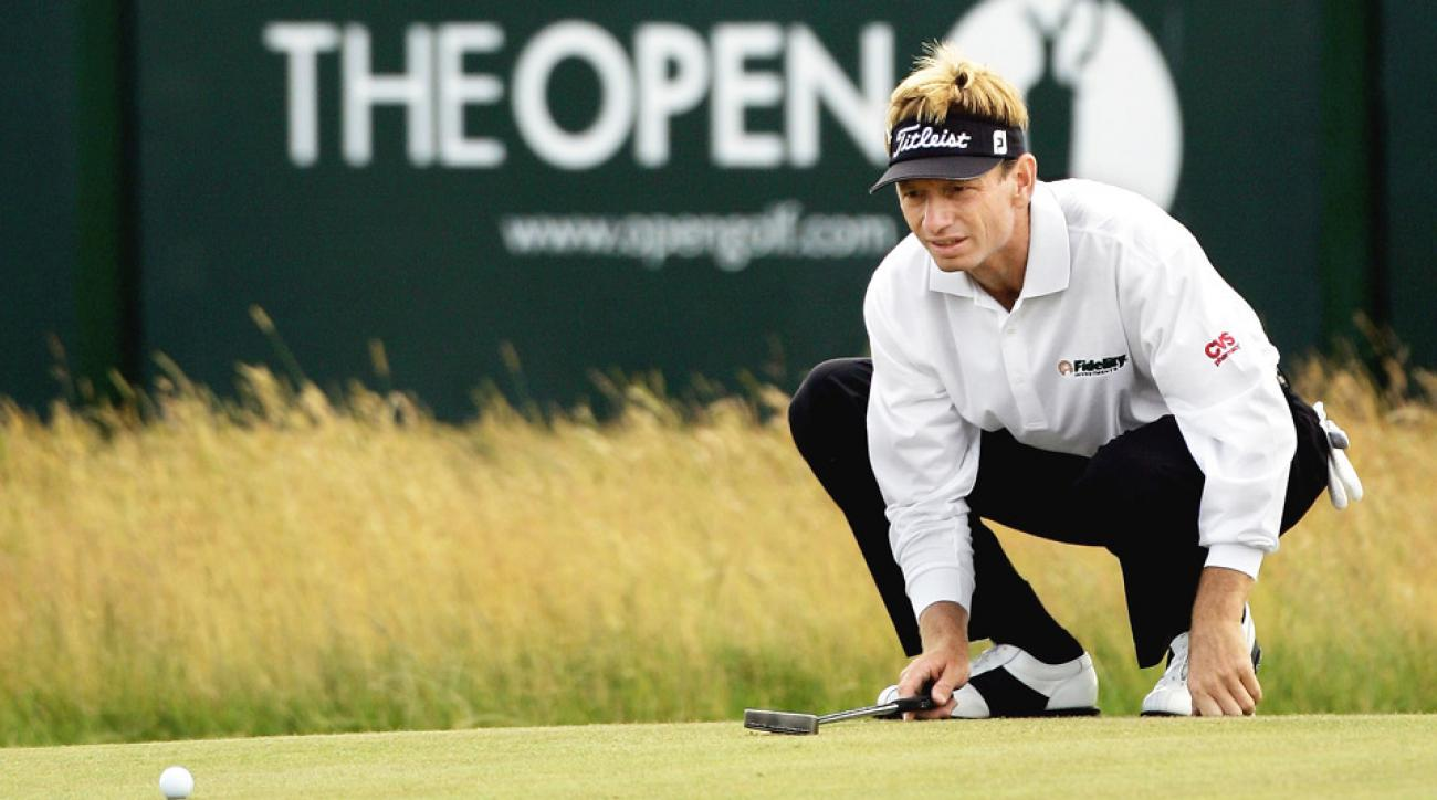 Brad Faxon in action at the Open Championship.